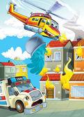 Ambulance action — Stock Photo