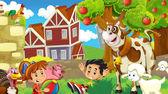 The farm illustration — Stock Photo