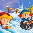 Winter fun kids — Stock Photo #12425140