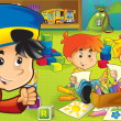 The cartoon kindergarten — Stockfoto