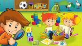 The cartoon kindergarten — Stock Photo