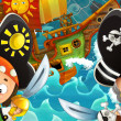 Stock Photo: Pirates and ships