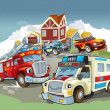 The illustration with many vehicles — 图库照片 #12624928