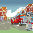 The illustration with many vehicles — Stockfoto #12625072