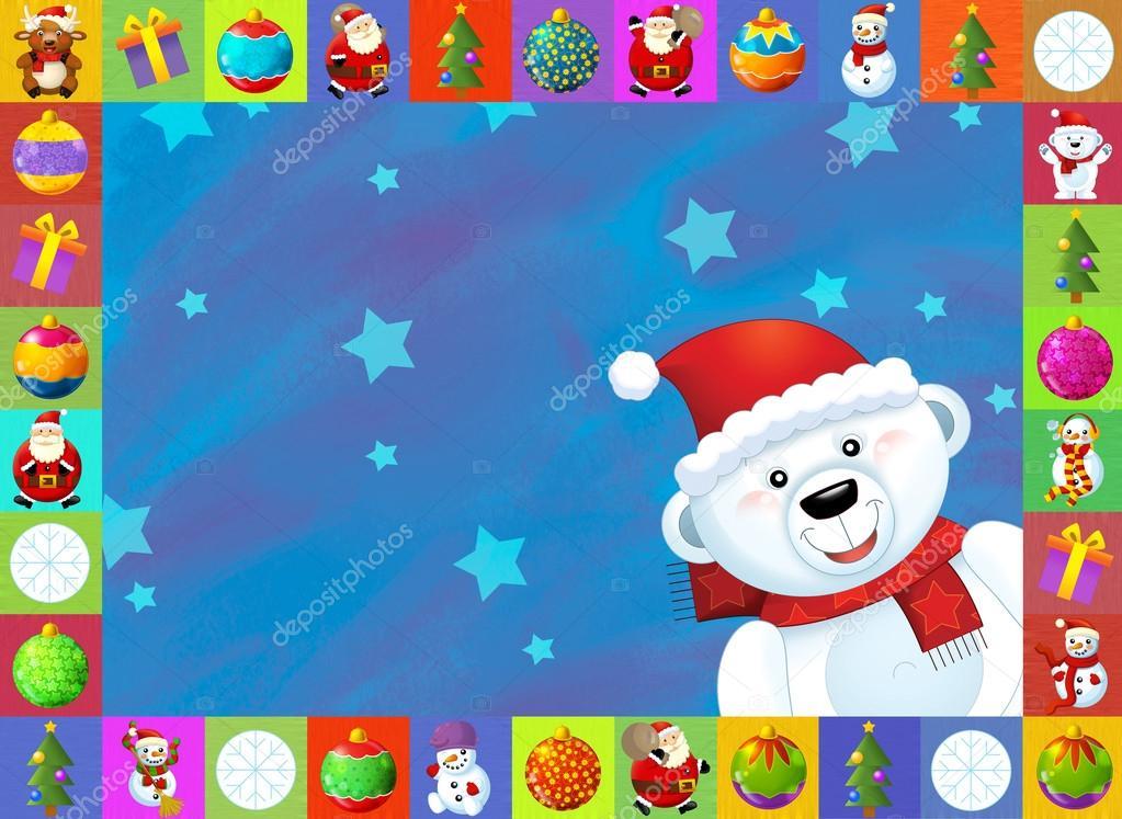 La tarjeta de navidad con fondo claro ilustraci n para - Tarjetas de navidad de ninos ...