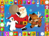 The christmas card with clear background - illustration for the children — Foto Stock