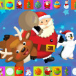 The christmas card with clear background - illustration for the children — Stock Photo