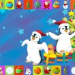 The christmas card with clear background - illustration for the children — Stock Photo #12709720