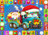 Colorful illustration with truck — Stock Photo