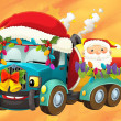 Colorful illustration with truck — Stock Photo #12793902
