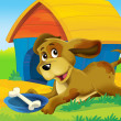The farm event - farm animals - illustration for the children — Stock Photo