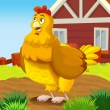 Stock Photo: Illustrated farm hen
