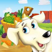 Gospodarstwo ilustracja zdarzenie - zwierząt gospodarskich - dla dzieci — Zdjęcie stockowe