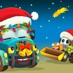 la escena de Navidad feliz — Foto de Stock