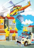 Автомобиль и Летающая машина — Стоковое фото