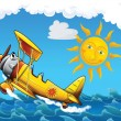 Little happy, cartoon plane — Lizenzfreies Foto