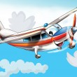 Little happy, cartoon plane — Stock Photo #13961639