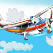 Little happy, cartoon plane - ストック写真
