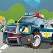 The police car — Stock Photo