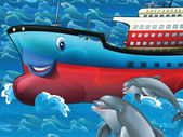Glad tankfartyg — Stockfoto
