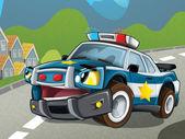 Polisbilen — Stockfoto
