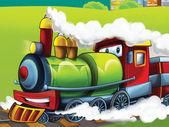 La locomotora de la historieta — Foto de Stock