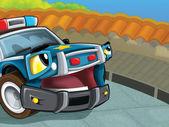 O carro de polícia — Foto Stock