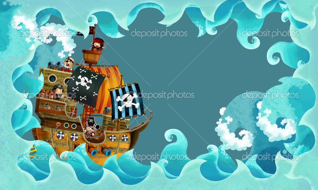 мультфильм корабль пиратов