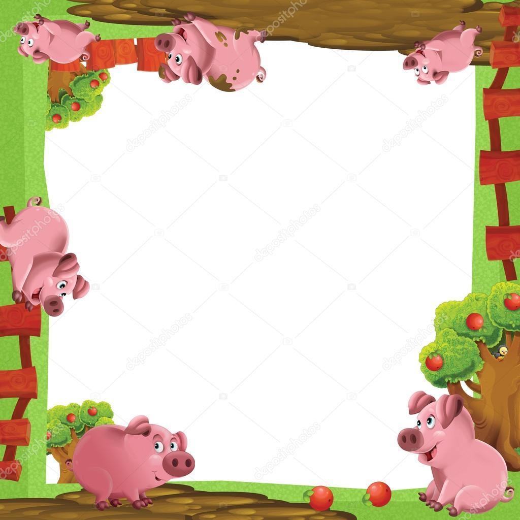 Cartoni animati animali della fattoria cornice artistica