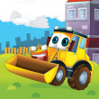 Happy tractor - Stock Photo