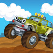 Off road cartoon car — Stock Photo