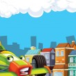 Cartoon city look with f1 - Foto Stock