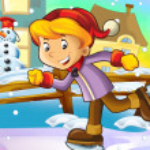 Christmas fun ice skates — Stock Photo