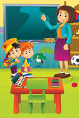 Cartoon kindergarten — Stock Photo