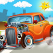 Cartoon hotrod — Stockfoto