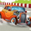 Cartoon hotrod — Stock Photo