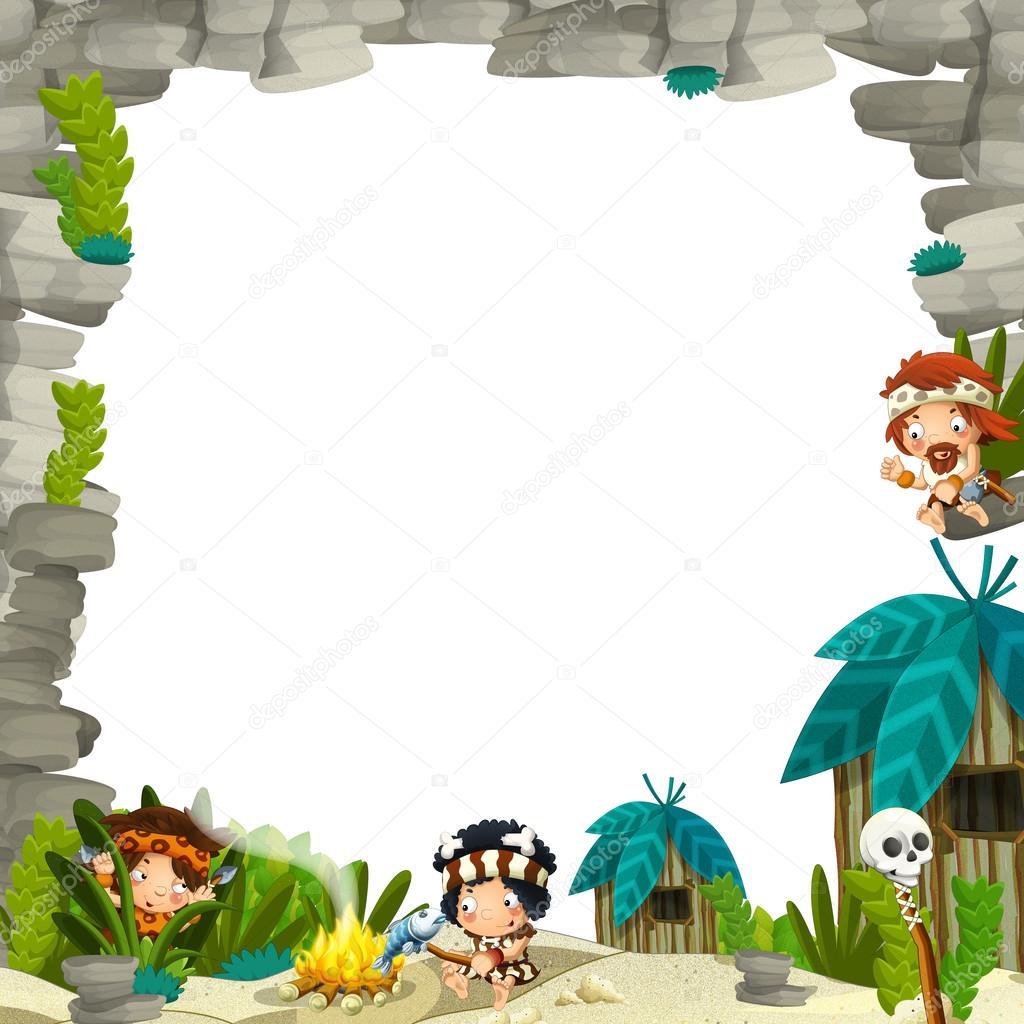 石器时代边框 - 图库图片