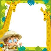 In de cartoon grappige frame - met wilde dieren - afbeelding voor de kinderen — Stockfoto