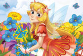 The fairy - Beautiful Manga Girl - illustration — Стоковое фото