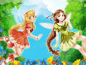 The fairy - Beautiful Manga Girls - illustration — Stock Photo