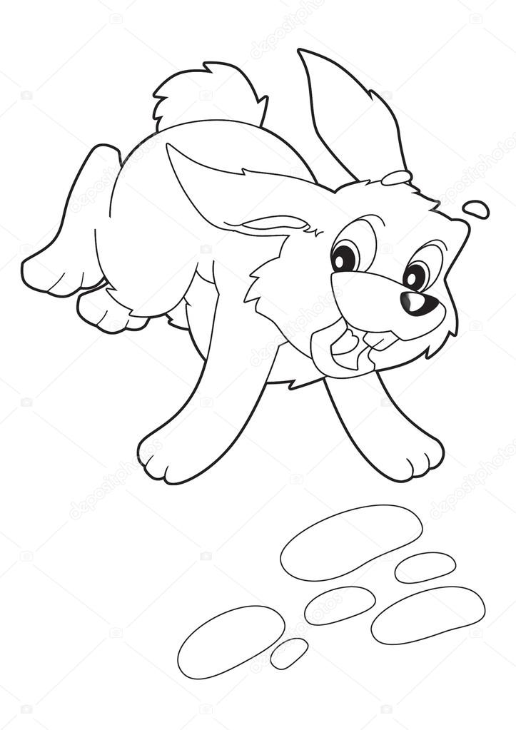 Running Rabbit Drawing Running Rabbit Photo by