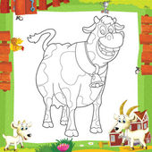 Illustration of cow — Stock Photo