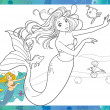 Stock Photo: Beautiful mermaid