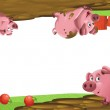 Colorful illustration with pigs — Stock Photo #19129343