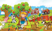 The farm illustration — Stock Photo