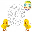 The happy easter chickens — Stock Photo #19174661