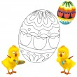 The happy easter chickens — Stock Photo #19174765