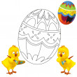 The happy easter chickens — Stock Photo #19178887