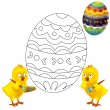 The happy easter chickens — Stock Photo #19180861