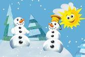 Sneeuwmannen — Stockfoto